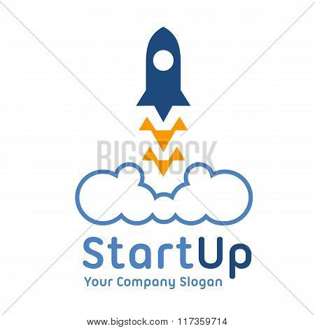 Logo Template. Abstract Business Corporate Identity Symbol. Startup Graphic Concept