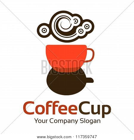 Logo Template. Abstract Coffee Business Corporate Identity Symbol. Company Graphic Concept