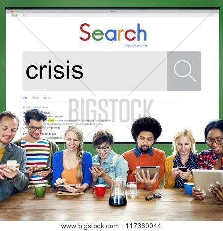 Crisis Loss Recession Disaster Business Concept