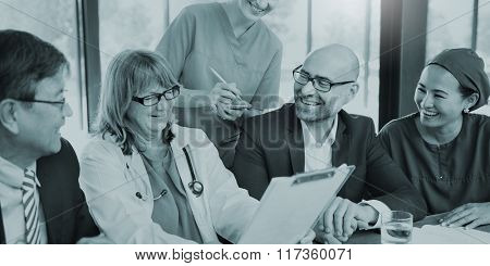 Doctor Team Treatment Plan Discussion Concept