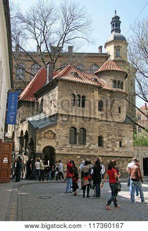 Prague, Czech Republic - April 25, 2010: Former Ceremonial Hall Of Klausen Synagogue In Jewish Quart
