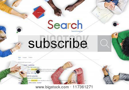 Subscribe Follow Subscription Membership Social Media Concept