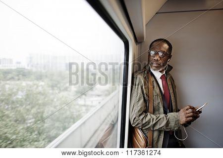 Businessman Connection City Commercial Creative Concept