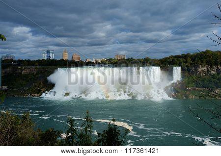 Overcast American Niagara Falls Sunlit