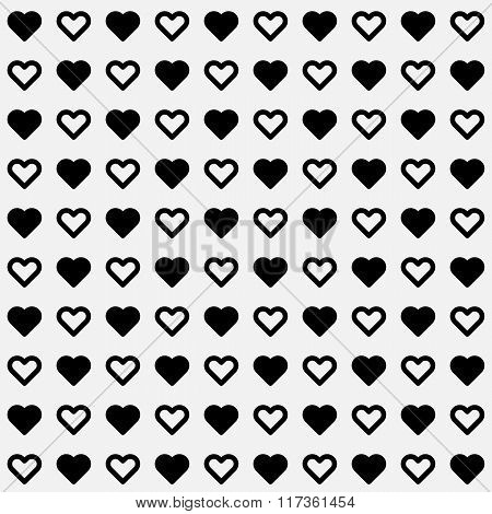 White Abstract Background With Heart Signs
