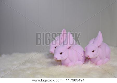Pink Easter Bunnies