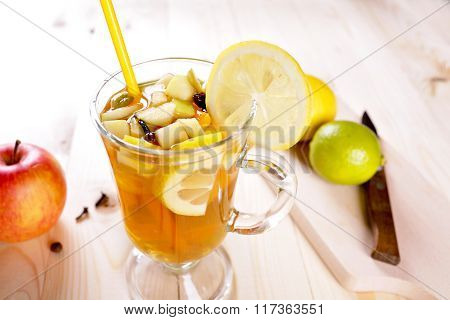 Grog With Lime, Lemon And Apple