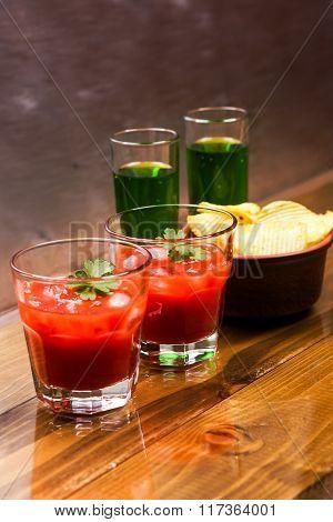 Tomato Alcoholic Coctail