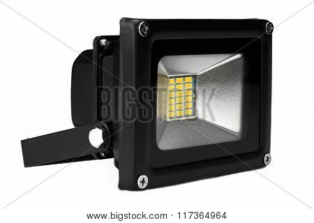 Outdoor Waterproof Led Floodlight Isolated On White