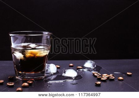 Ice Coffee With Whiskey