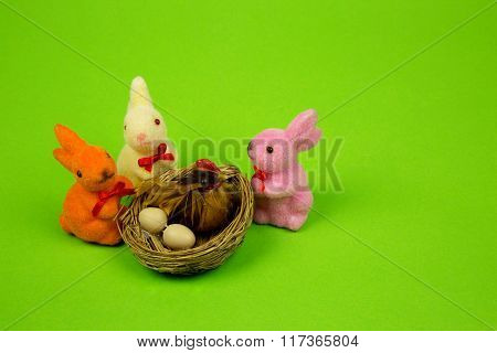 Easter Decoration Isolated Light Green