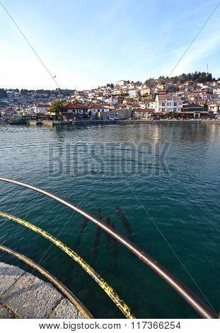 Picture of an Lake Ohrid Macedonia. February 72016
