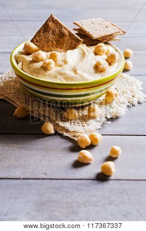 Traditional Hummus With Chickpeas