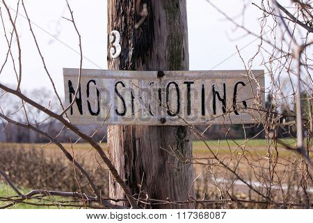 No Shooting Sign