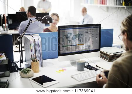 Businessman Working Analysis Technology Concept