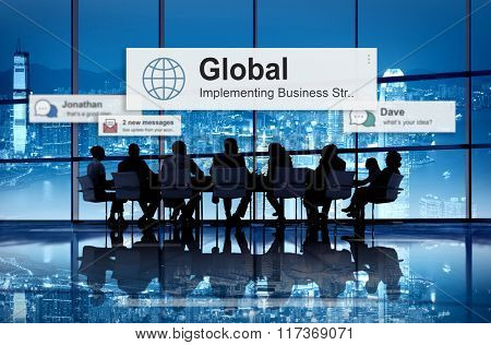 Global Community Communication Worldwide Concept