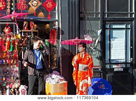 Liverpool Uk 7Th February 2016. Chinese New Year Celebrations In Liverpool Uk