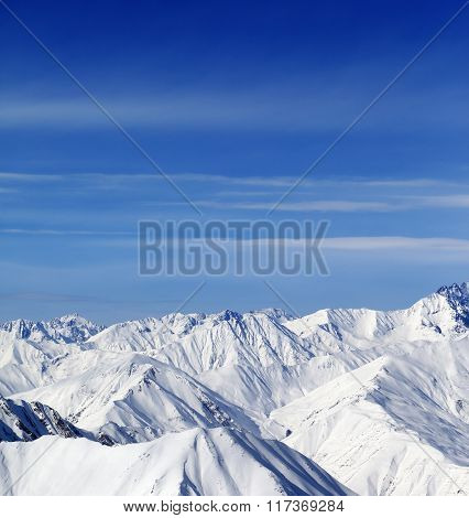 Winter Mountains In Nice Day