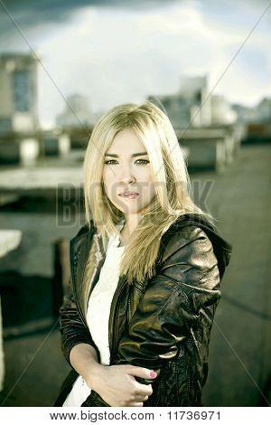 Perfect Fashionable Blondy Lady