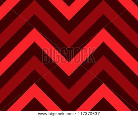 Striped, zigzagging seamless pattern. Zig-zag line texture. Stripy geometric background. Red, black