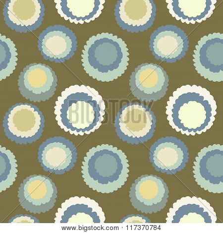 Seamless geometric dot, spotty pattern. Motley texture. Circles with torn paper effect. Round blots,
