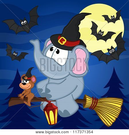 elephant and mouse halloween