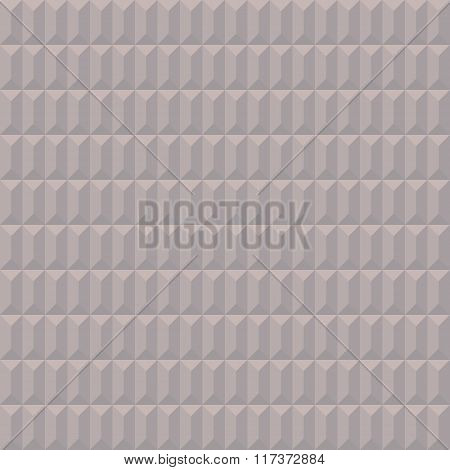 Seamless geometric convex pattern. Pyramidal, trapezoidal texture. Volumetric pastel shades simple b