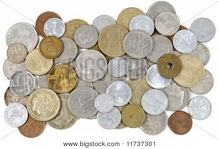 Old Coins Of Different Countries