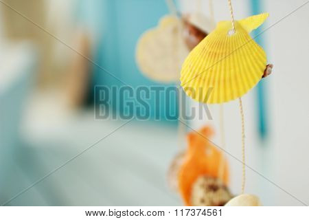 garland of seashells. marine decorations