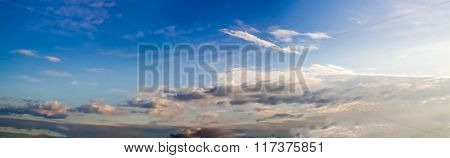 Sunset Sky And Cloud - Panorama Effect