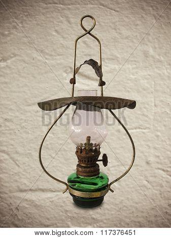 Old Antique Oil Lamp
