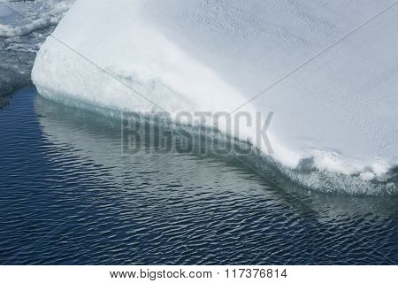 Closeup Of A Ice Floe Melting