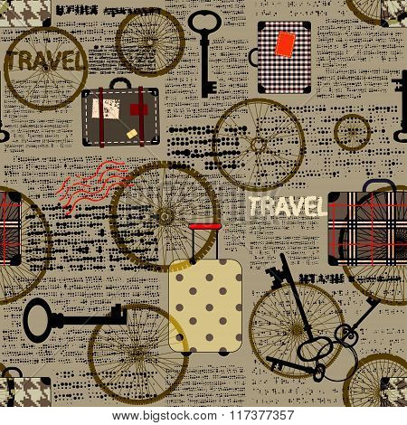 Travel newspaper background.