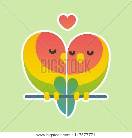 Cute Lovebird Couple.