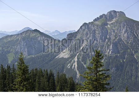 View To Bavyrian Alps, Mountain Saeuling