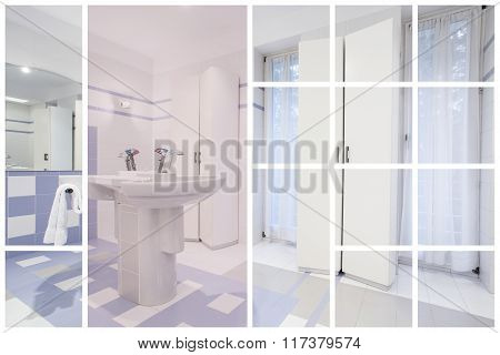 Contemporary Bathroom In Modern House