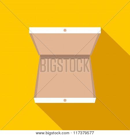 Open pizza box flat icon
