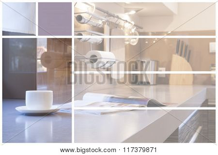 Kitchen Worktop - Creative Collage