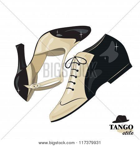 Elegant women's  and men's shoes.