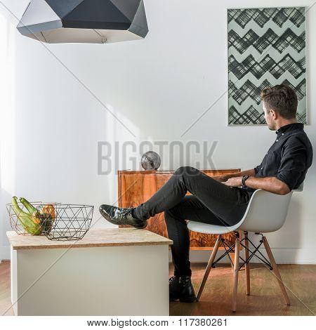 Elegant Man In The Room