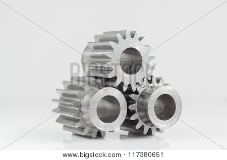 Three Gears on Isolated background
