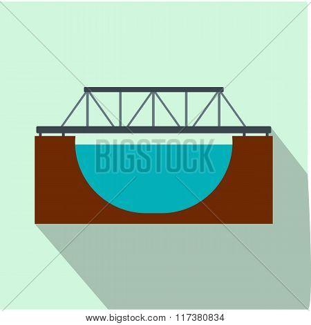 Rail bridge flat icon