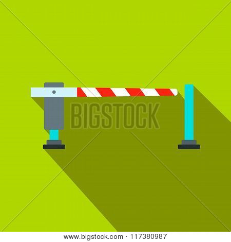 Railway barrier flat icon