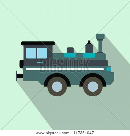 Train locomotive flat icon