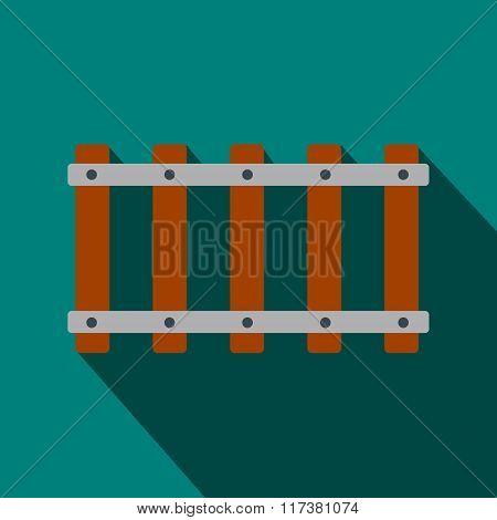 Railroad flat icon