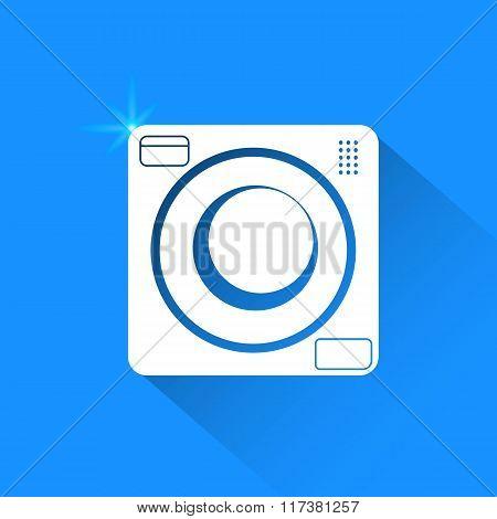 Washing On Blue Background