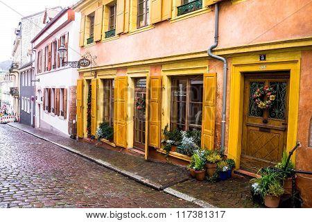 Old Historic Street. Baden-baden. Germany
