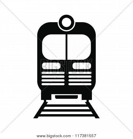 Train black simple icon