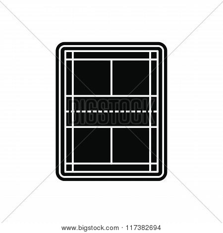 Tennis court black simple icon