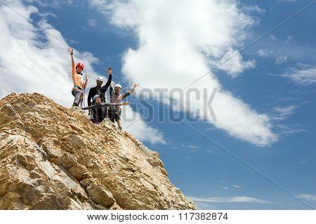 Climbers on summit